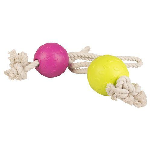 Duvo+ Hundespielzeug Foam Ball mit Seil
