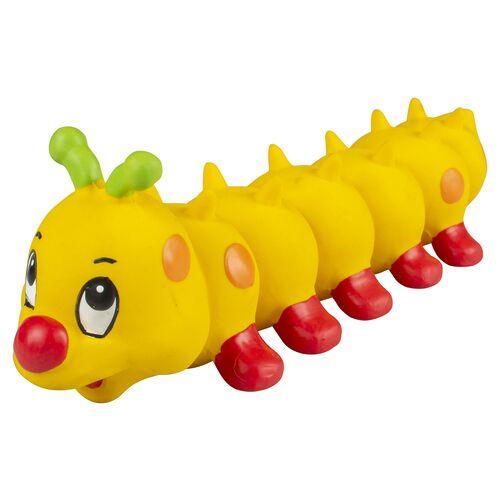 Duvo+ Hundespielzeug Latex Raupe gelb
