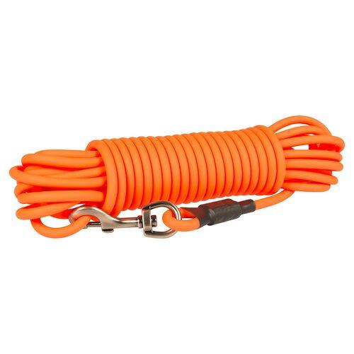 Duvo+ South Langlaufleine PVC rund neonorange, Maße: 15 m / 8mm