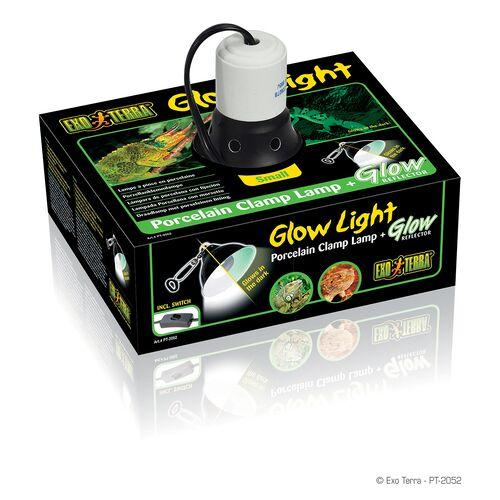 Exo Terra Glow Light - Porzellan-Klemmlampe und Leuchtreflektor, Ø: 14 cm
