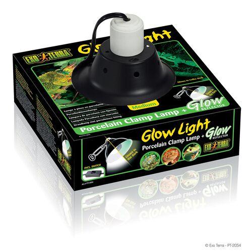 Exo Terra Glow Light - Porzellan-Klemmlampe und Leuchtreflektor, Ø: 21 cm