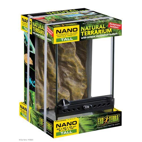 Exo Terra Natural Terrarium Nano - Glas Terrarium, Maße: 20 x 20 x 30 cm