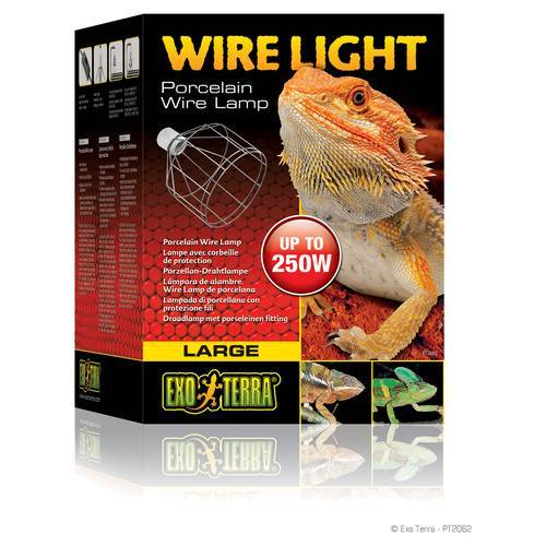 Exo Terra Wire Light - Porzellan-Klemmlampe, Ø: 28,9 cm / Länge: 24,5 cm