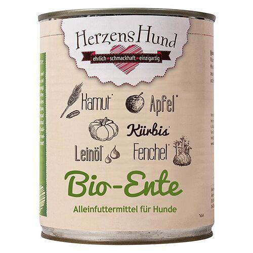 HerzensHund (6,25 EUR/kg) HerzensHund Bio-Ente mit Bio-Gemüse 800 g - 6 Stück