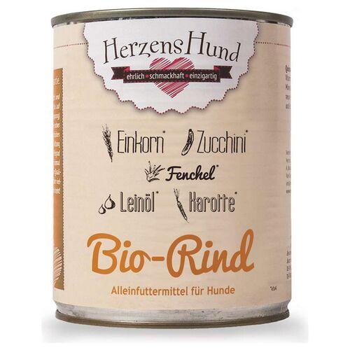 HerzensHund (8,23 EUR/kg) HerzensHund Bio-Rind 400 g - 12 Stück