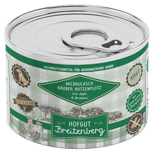 Hofgut Breitenberg (8,70 EUR/kg) Hofgut Breitenberg Wildgulasch Räuber Hotzenplotz mit Apfel und Brokkoli 200 g - 12 Stück