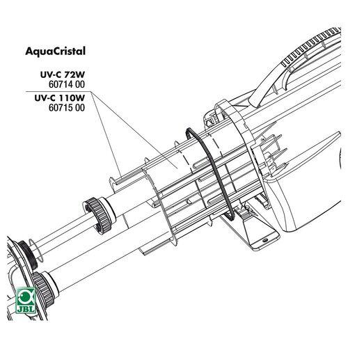JBL Ersatzteil PP-Einsatz für UV-C 110 W