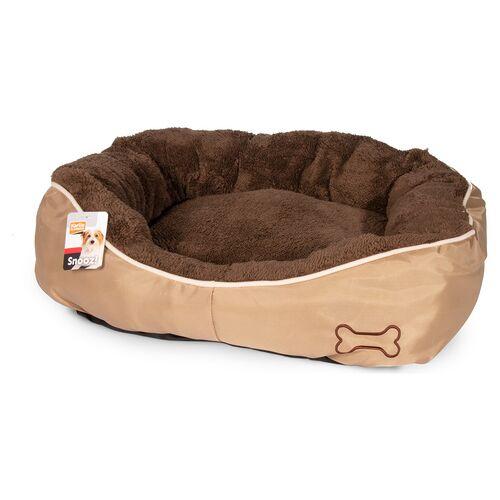 Karlie Hundekorb Chipz rund braun, Maße: 63 x 60 x 20 cm