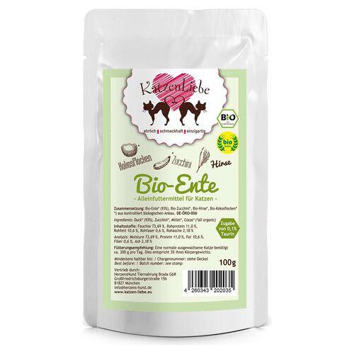 Katzenliebe (13,99 EUR/kg) Katzenliebe Bio-Ente mit Bio-Zucchini 100 g - 15 Stück