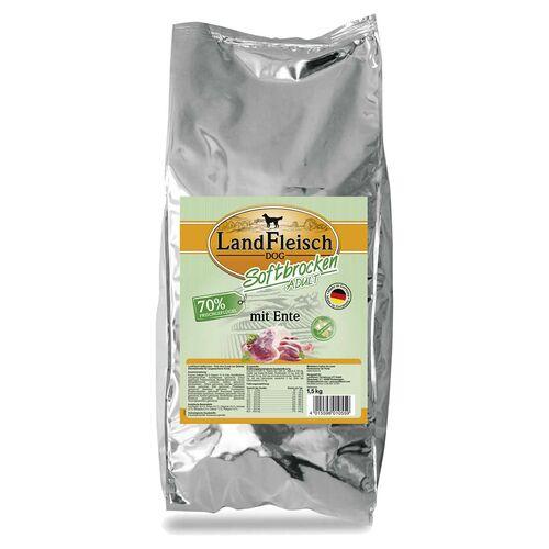 Landfleisch (7,99 EUR/kg) Landfleisch Softbrocken Adult mit Ente 1,5 kg