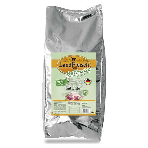 Landfleisch (5,18 EUR/kg) Landfleisch Softbrocken Adult mit Ente 5 kg