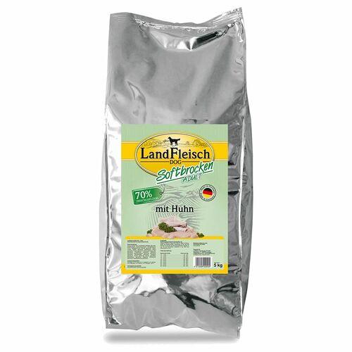 Landfleisch (4,52 EUR/kg) Landfleisch Softbrocken Adult mit Huhn 5 kg