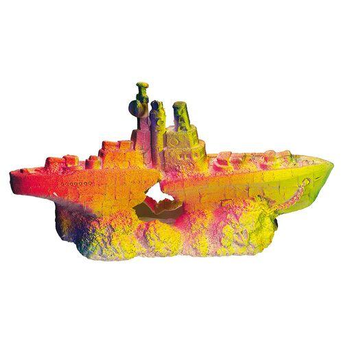 Nobby Aquariendekoration Kriegsschiff neon