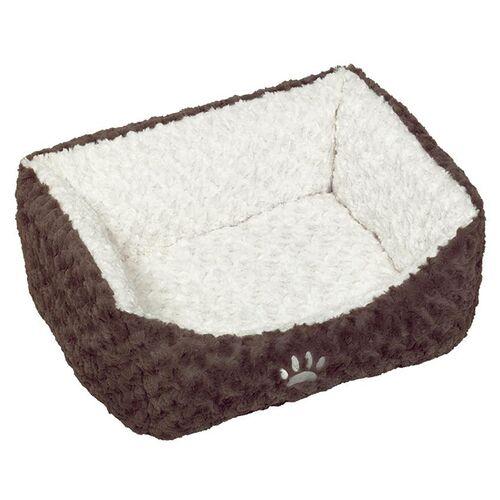 Nobby Katzenbett Neiku braun/weiß, Maße: 45 x 40 x 18 cm