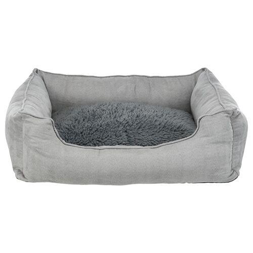 Trixie Bett mit wärmereflektierender Einlage grau für Hunde
