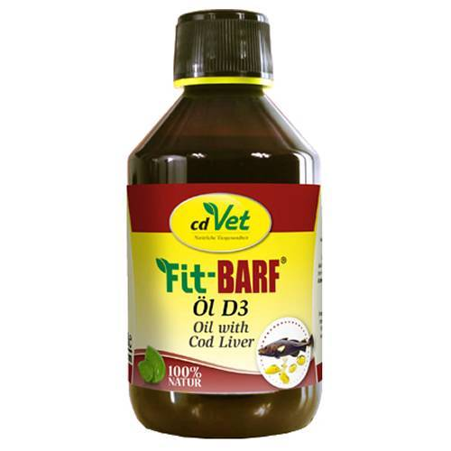 cdVet (77,56 EUR/l) cdVet FIT-BARF Öl D3 für Katzen 250 ml