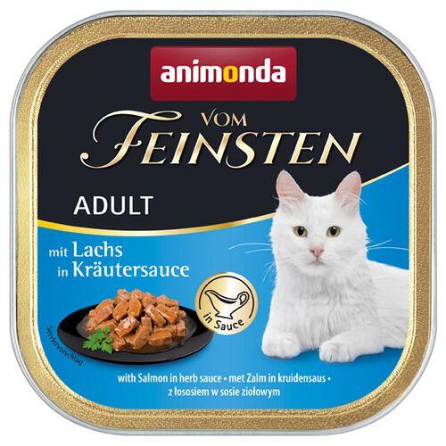 Animonda (6,43 EUR/kg) Animonda vom Feinsten mit Lachs in Kräutersauce 100 g - 32 Stück