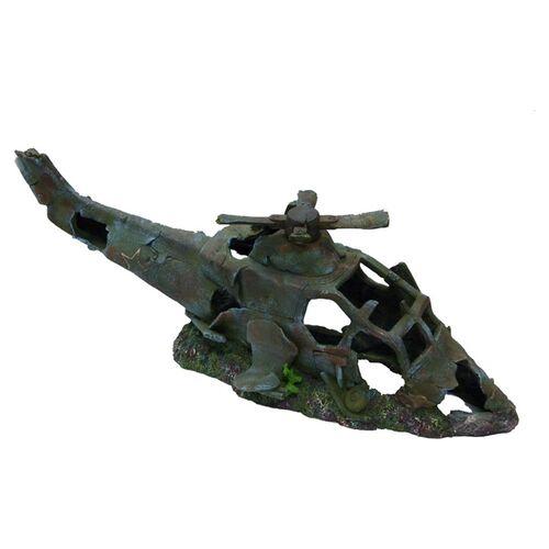 Aqua Della Aquariumdekoration Hubschrauber, Maße: 74,5 x 22,5 x 25cm
