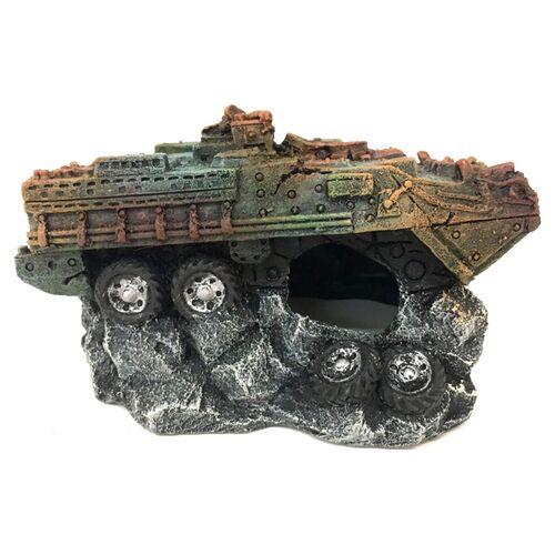 Aqua Della Aquariumdekoration Militärpanzer, Größe: L