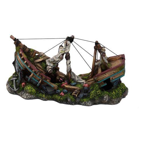 Aqua Della Aquariumdekoration Schiff mit Masten, Größe: L