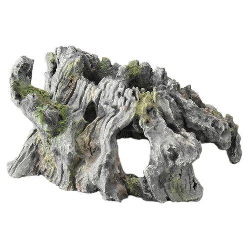 Aqua Della Aquariumdekoration Stein Driftwood grau