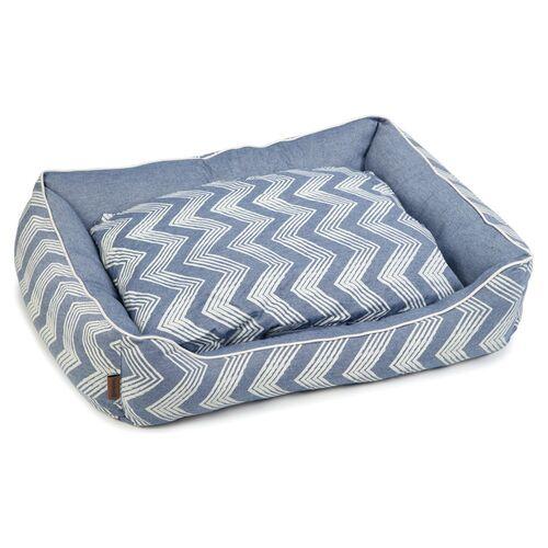 Beeztees Hundebett Zigzag blau, Maße: 95 x 90 x 25 cm