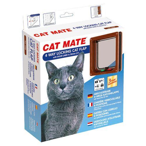 Cat Mate 4-Wege Katzentür mit Magnetverschluss 235 B braun
