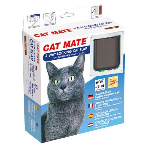 Cat Mate 4-Wege Katzentür mit Magnetverschluss 235 W weiß