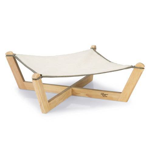 Designed by Lotte Hängematte Gaia Holz grau