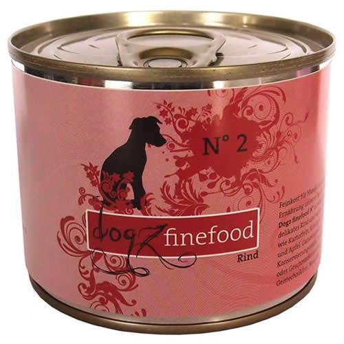 Dogz finefood (8,49 EUR/kg) Dogz finefood No. 2 Rind 200 g - 6 Stück