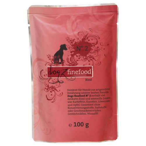 Dogz finefood (13,49 EUR/kg) Dogz finefood No. 2 Rind Beutel 100 g - 12 Stück