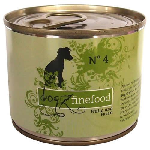 Dogz finefood (8,49 EUR/kg) Dogz finefood No. 4 Huhn & Fasan 200 g - 6 Stück