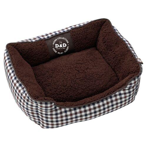 D&D Hundebett Sweet Checker Dominobed, Maße: 53 x 42 x 18 cm