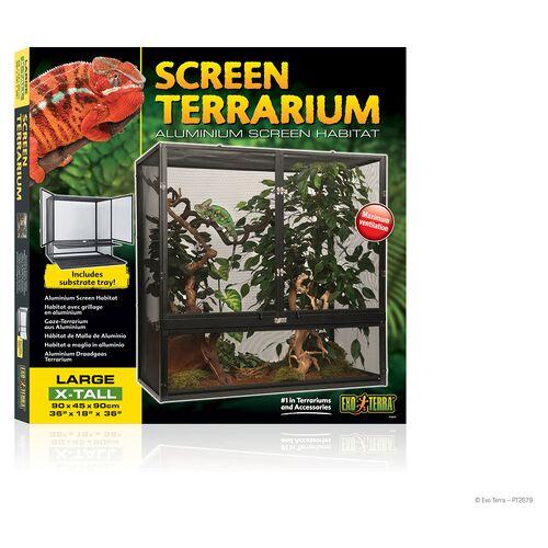 Exo Terra Aluminium Gaze Terrarium, Maße: 90 x 45 x 90 cm