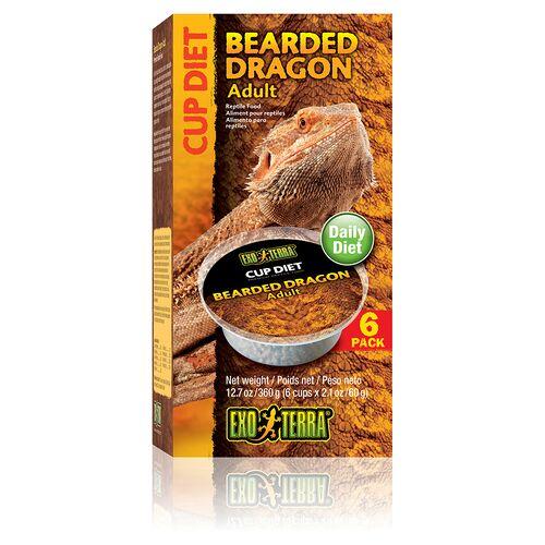 Exo Terra (53,58 EUR/kg) Exo Terra Diet Cups für erwachsene Bartagamen 360 g
