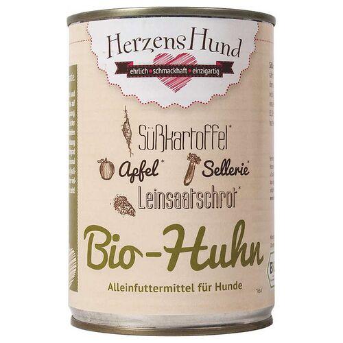 HerzensHund (26,33 EUR/kg) HerzensHund Bio-Huhn 400 g - 12 Stück