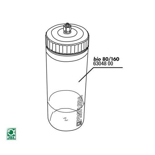 JBL Ersatzteil Reaktionsgefäß bio80 / 160
