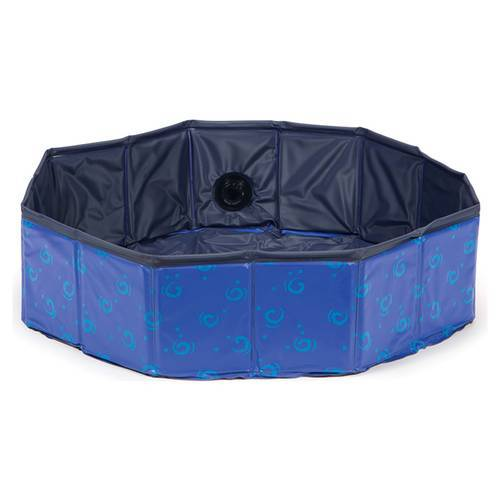 Karlie Doggy Pool Design blau, Maße: ø 160 x 30 cm
