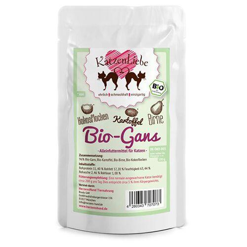 KatzenLiebe (12,53 EUR/kg) KatzenLiebe Bio-Gans 100 g - 15 Stück