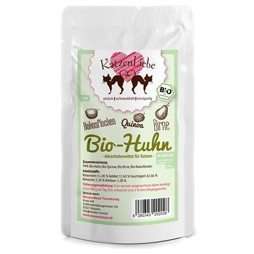 KatzenLiebe (12,53 EUR/kg) KatzenLiebe Bio-Huhn 100 g - 15 Stück