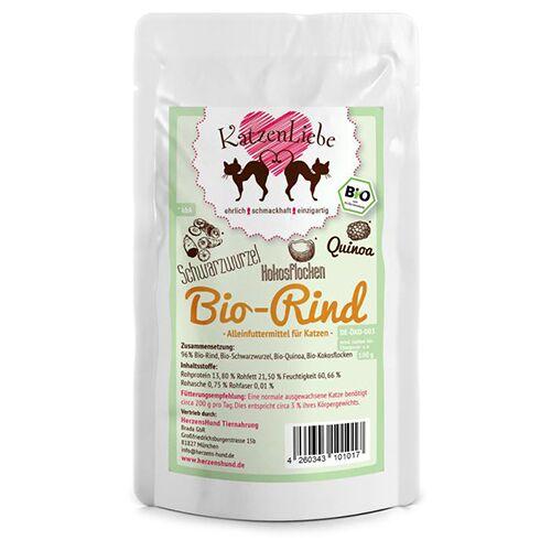 KatzenLiebe (12,53 EUR/kg) KatzenLiebe Bio-Rind 100 g - 15 Stück