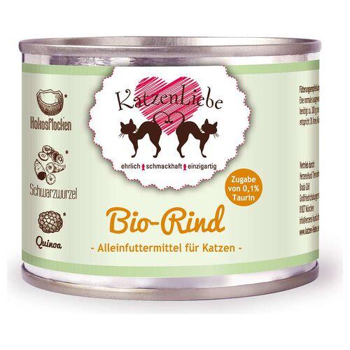 Katzenliebe (13,08 EUR/kg) Katzenliebe Bio-Rind mit Bio-Schwarzwurzel 200 g - 12 Stück