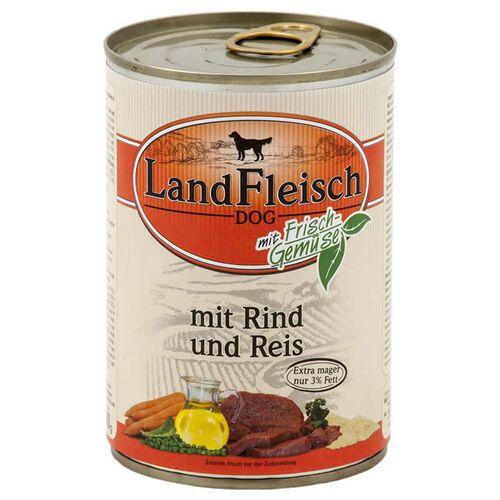 Landfleisch (2,62 EUR/kg) Landfleisch Pur mit Rind & Reis 400 g - 12 Stück