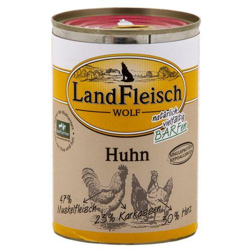 Landfleisch (4,79 EUR/kg) Landfleisch Wolf 100 % vom Huhn 400 g - 12 Stück