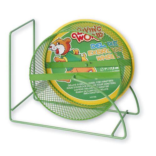 Living World Laufrad Deluxe Metall für Hamster grün