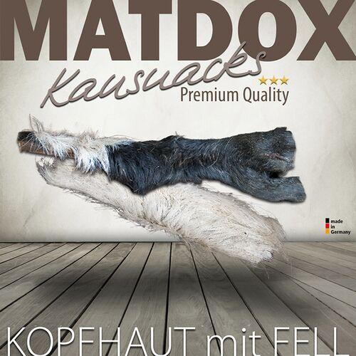 MATDOX (23,38 EUR/kg) MATDOX Premium Rinderkopfhaut mit Fell 500 g
