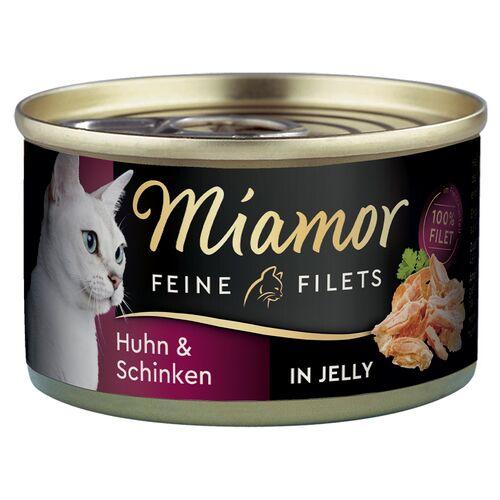 Miamor (9,50 EUR/kg) Miamor Feine Filets mit Huhn & Schinken in Sauce 100 g - 24 Stück