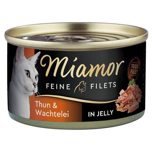Miamor (9,50 EUR/kg) Miamor Feine Filets mit Thunfisch & Wachtelei in Jelly 100 g - 24 Stück
