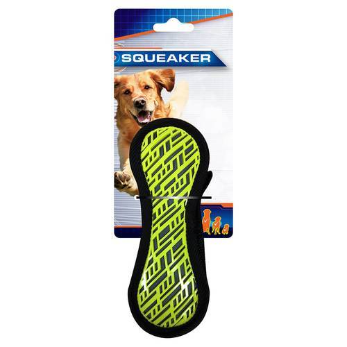 Nerf Dog Hundespielzeug Force Grip Hantel gelb/blau