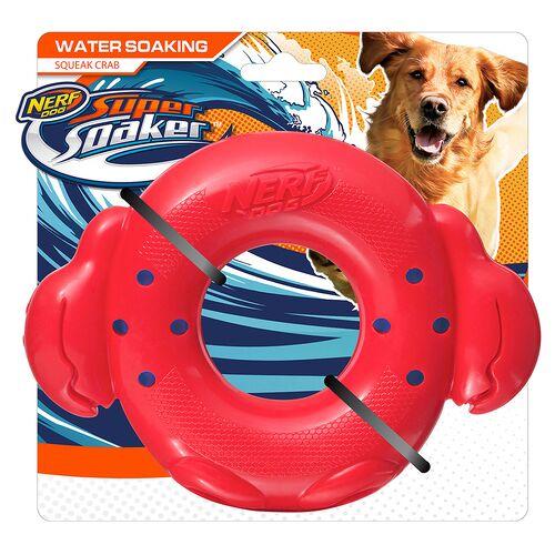 Nerf Dog Super Soaker Krabbenring rot